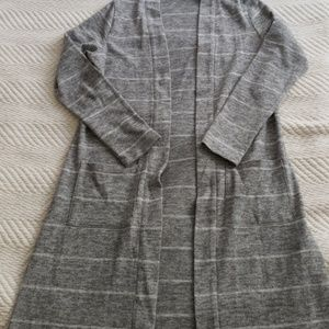 Sweaters - Long Grey Cardigan